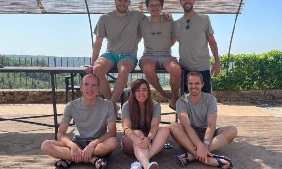 The Cargoful team with Filippo Tamburini top middle and Erica Pezzica in the middle below
